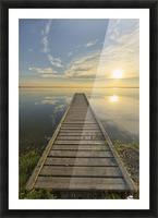 Wharf, Queen Elizabeth Provincial Park; Alberta, Canada Picture Frame print
