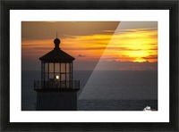 A sunset at North Head Lighthouse; Ilwaco, Washington, United States of America Picture Frame print