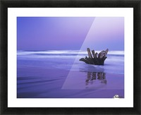 Waves break on the beach at dawn; Winchester Bay, Oregon, United States of America Picture Frame print