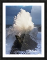 Surf erupts on the rocks at Shore Acres State Park; Charleston, Oregon, United States of America Picture Frame print