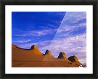 Storms carve sand dunes in peaks; Lakeside, Oregon, United States of America Picture Frame print