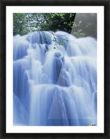 Sweet Creek waterfalls along the hiking trail; Mapleton, Oregon, United States of America Picture Frame print