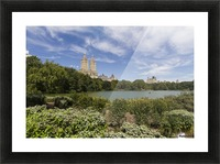 The Lake in Central Park, New York City, New York, United States Picture Frame print