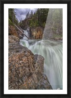 Myra Falls, Strathcona Provincial park; British Columbia, Canada Picture Frame print