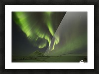 Aurora Borealis, or Northern Lights, along the Dempster Highway; Yukon, Canada Picture Frame print