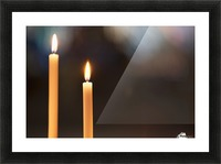Burning candles; Northumberland, England Picture Frame print