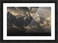 Aiguille du Midi and Mont Blanc, French Alps Picture Frame print