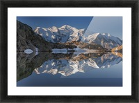 White in Black (Mont Blanc in Lac Noir), French Alps Picture Frame print
