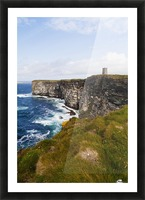 Marwick Head RSPB Nature Reserve, Kitcheners Monument; Orkney, Scotland Picture Frame print
