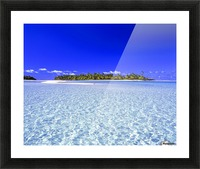 One Foot Island, Aitutaki; Aitutaki, Cook Islands Picture Frame print