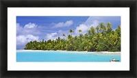 Remote island near Barefoot Island; Aitutaki, Cook Islands Picture Frame print