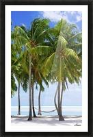 Aitutaki Lagoon Resort, Aitutaki, Cook Islands Picture Frame print