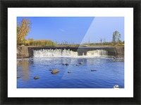 Rainbow Falls on the Whiteshell River in autumn, Whiteshell Provincial Park; Manitoba, Canada Picture Frame print