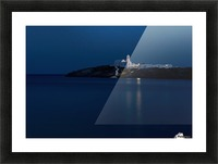 The Chrysopiyi Monsastery in Southeastern Sifnos at dusk; Sifnos, Cyclades, Greek Islands, Greece Picture Frame print