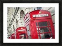 Telephone boxes in a row; Blackpool, Lancashire, England Impression et Cadre photo