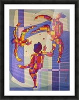 Juggling balls foot Picture Frame print