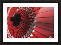 Japanese red umbrella; Kyoto, Japan Picture Frame print