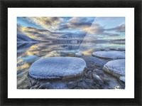 Kathleen Lake and Mount Worthington in Kluane National Park; Yukon, Canada Picture Frame print