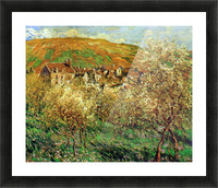 Flowering apple trees by Monet Picture Frame print