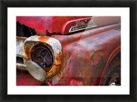 Detail of fire truck that belonged to Kodiak Volunteer Fire Department; Kodiak, Alaska, United States of America Impression et Cadre photo