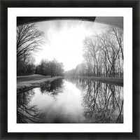 The Canal, Black and White Picture Frame print