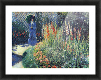 Gladiolas by Monet Picture Frame print