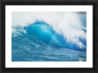 Beautiful Blue Ocean Wave Picture Frame print
