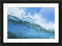 Blue Ocean Wave Picture Frame print
