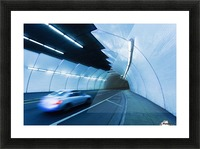 Urban Tunnel, Car moving with Motion Blur Picture Frame print
