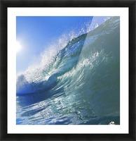 Blue Ocean Wave Picture Frame print