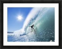 Surfer On Blue Ocean Wave Picture Frame print