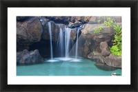 Waterfall into Resort Pool Picture Frame print