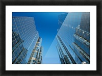 Sky Scrapers, Urban Buildings and Blue Sky Picture Frame print