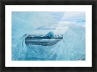 Icebergs on the southern beach near the ice lagoon of Jokursarlon; Iceland Picture Frame print