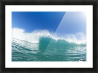 Blue Ocean Wave and Sunny Blue Sky Picture Frame print