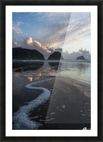 Dusk approaches on Crescent Beach; Cannon Beach, Oregon, United States of America Picture Frame print