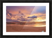 Sunset on Hawaii Beach Picture Frame print