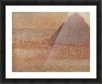 Haystacks at sunset by Monet Picture Frame print