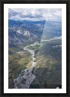 Aerial View of the Brooks Range in summer, ANWR, Alaska Picture Frame print