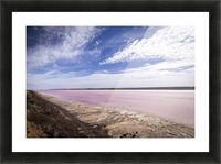 Pink Lake Picture Frame print