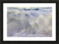 Ocean wave blurred by motion; Hawaii, United States of America Picture Frame print