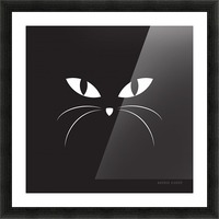 BLACK CAT Picture Frame print