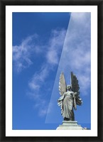 Angel overlooking Parade Gardens; Bath, Somerset, England Picture Frame print