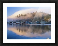 Boats dock at Winchester Bay; Oregon, United States of America Picture Frame print