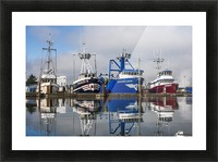 Fishing boats moored at the dock; Warrenton, Oregon, United States of America Picture Frame print