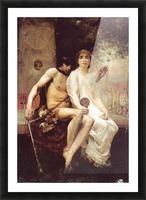 Lycenion et Daphnis Picture Frame print