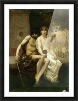 Eros and a young couple Picture Frame print