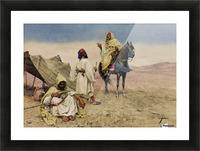 Nomades du desert Picture Frame print