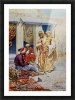 A walk through the market Picture Frame print