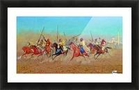 Charging Horsemen Picture Frame print